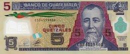 GUATEMALA 5 QUETZALES 2010  P-122a   AUNC. - Guatemala