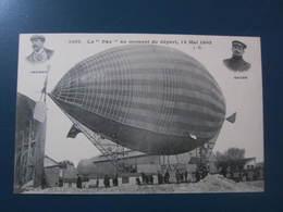 Carte Postale Dirigeable PAX Aumoment Du Départ - Airships