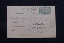 CÔTE DES SOMALIS - Affranchissement De Djibouti Sur Carte Postale ( Lions ) En 1910 Pour La France - L 56989 - Côte Française Des Somalis (1894-1967)