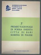 3° PREMIO NAZIONALE DI POESIA INEDITA CITTÀ DI BARI MARINA DI PALESE - Società, Politica, Economia