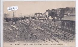 LANGRES- LIGNE PARIS-BALE- LA GARE DE LANGRES - Langres