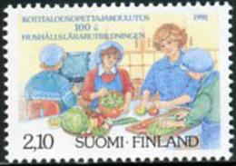 Ref. 103255 * NEW *  - FINLAND . 1991. CDNTENARY OF HOME WORKS TEACHING. CENTENARIO DE LA ENSE�ANZA DE LAS TAREAS DOMEST - Finlandia
