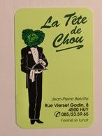 Carte De Visite Restaurant La Tête De Chou Huy - Cartes De Visite