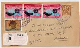 Lettre Recommandée De TRIPOLI Pour La FRANCE 1969. - Libye