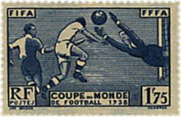 Ref. 342103 * HINGED *  - FRANCE . 1938. WORLD FOOTBALL CUP. FRANCE-38. COPA DEL MUNDO DE FUTBOL. FRANCIA-38 - France