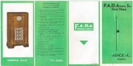 Dépliant Publicitaire FADA Andrea Inc - Meubles Radio - Publicités