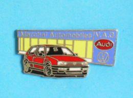 1 PIN'S //  ** GOLF GTI / MARCHAL AUTOMOBILES / V.A.G. / AUDI / VOLKSWAGEN ** - Volkswagen