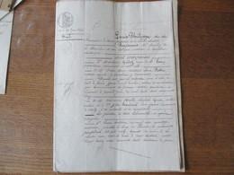 CAMBRAI 26 ET 29 JUIN 1845 BAIL D'IMMEUBLE A VIESLY PAR MADELAINE GUIDEZ Vve LEROY ET Me PIETTRE NOTAIRE A GOUSE ALEXAND - Manuscrits