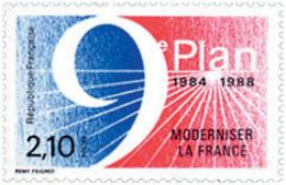 Ref. 149667 * NEW *  - FRANCE . 1984. 9th PLAN TO MODERNIZE FRANCE. 9 PLAN DE MODERNIZAR FRANCIA - Nuevos