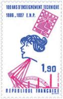 Ref. 123917 * NEW *  - FRANCE . 1986. CENTENARY OF PROFESSIONAL TRAINING. CENTENARIO DE LA ENSE�ANZA LABORAL - Nuevos
