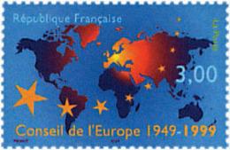Ref. 53489 * NEW *  - FRANCE . 1999. 50th ANNIVERSARY OF THE EUROPEAN COUNCIL. 50 ANIVERSARIO DEL CONSEJO DE EUROPA - Neufs