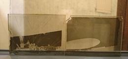 DIRIGEABLE ZD4 AERONEF - LOT DE 2 - PLAQUE DE VERRE 9*6.5 CM - Plaques De Verre