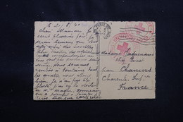 BELGIQUE - Cachet Croix Rouge De Charleroi Sur Carte Postale Pour La France En 1940 - L 56998 - Covers & Documents