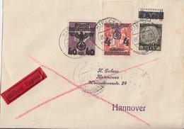 GG Brief Eilbote Mif Minr.10 OR, 16, 18 Kielce 28.3.40 Gel. Nach Hannover - General Government