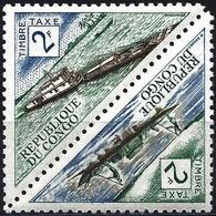 Congo (Braz) 1961 - Mi P5/P6 - YT T 38/39 ( Postage Due : Pirogue & River Ship ) MNH** - Congo - Brazzaville