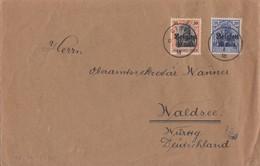 Dt. Post Belgien Brief Mif Minr.18,19 Ciney 10.5.18 - Occupazione 1914 – 18