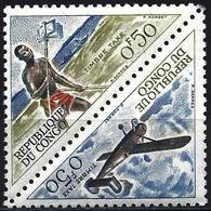 Congo (Braz) 1961 - Mi P1/P2 - YT T 34/35 ( Postage Due : Post Runner & Plane Broussard) MNH** - Congo - Brazzaville