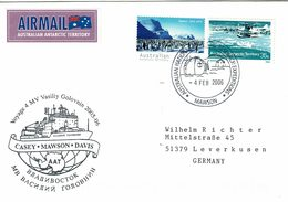 Lettre Mawson 2006 Voyage 4 Vasiliy Golovnin - Australian Antarctic Territory (AAT)