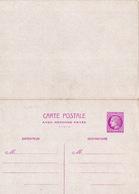 20715# ENTIER POSTAL CARTE POSTALE AVEC REPONSE PAYEE 1.50 Franc LILAS ROSE CERES MAZELIN B2 NEUF COTE 120€ - Entiers Postaux
