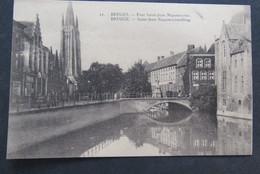 Carte Postale Brugge Saint Jean Nepumocènesbrug Zeldzame Kaart Bruges - Brugge