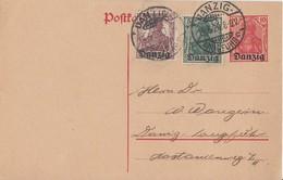 Danzig Ganzsache Minr.P1 Zfr. Minr.1, 3 Danzig-Langfuhr 19.5.20 - Danzig