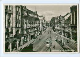 Y12941/ Pforzheim Leopoldplatz Straßenbahn 1941 Foto AK - Germania