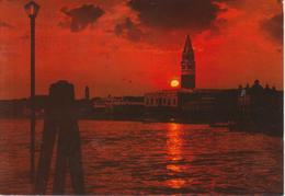 VENEZIA - TRAMONTO IN BACINO SAN MARCO - VIAGGIATA 1982 - Italia