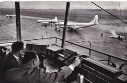 BELGIQUE.. MELSBROEK AIRPORT.. RARETÉ. TOUR DE CONTRÔLE.. ANIMATION.  ANNÉES 50 . - Aérodromes