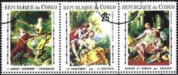 Congo (Braz) 1970 - Mi 222/24 - YT 253 + Pa 89B ( Paintings ) Complete Set - Congo - Brazzaville