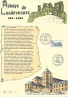 ABBAYE DE LANDEVENNEC / DOCUMENT DE LA POSTE  1985 - Documents De La Poste