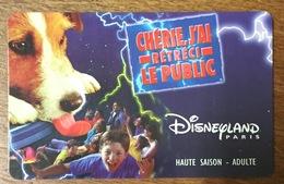PASSEPORT DISNEY DISNEYLAND PARIS CHÉRIE J'AI RETRÉCI LE PUBLIC ADULTE PAS TÉLÉCARTE PHONECARD - Disney