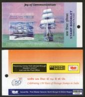 India 2004 INS Tarangani Ship Bengal & Sikkim Blank Booklet With Stamps # 5922 - Ships