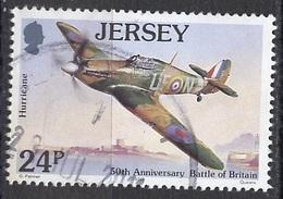 Jersey 1990 Y&T N°520 - Michel N°526 (o) - 24p Avion Hurricane - Jersey