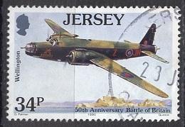 Jersey 1990 Y&T N°521 - Michel N°527 (o) - 34p Avion Wellington - Jersey