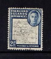 FALKLAND  ISLANDS  DEPENDENCIES    1946    2 1/2d  Black  And  Deep  Blue    USED - Falklandinseln