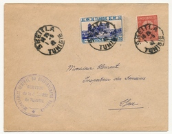TUNISIE - Enveloppe Depuis SBEITLA (Tunisie) 1942 - Service De La Jeunesse De Tunisie - Lettres & Documents