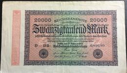 Allemagne,  20.000  Mark 1923. - [ 3] 1918-1933 : República De Weimar