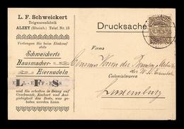 NEW - Luxemburg Luxembourg  SCHWEIKERT ALZEY 1911 Postkarte   EIERNUDELN - Echternach