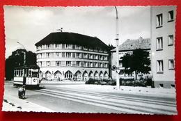 Halberstadt - Straßenbahn - Heinrich Heine Platz - Harz - DDR 1963 - Sachsen-Anhalt - Kleinformat Handfoto Echtfoto - Halberstadt
