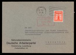 NEW - Luxemburg Luxembourg NSDAP Kreisleitung 1942 Enveloppe  Occupation 1940 1945 Ww2 Wort - Luxemburg - Stadt