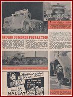 Berliet T100. Le Camion Le Plus Grand Camion Du Monde En 1957. Salon De L'automobile, Paris. - Documenti Storici