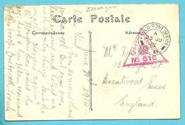 Kaart (Ypres) Met Stempel FILED POST OFFICE C.8. Op 23/JU/1915 - Not Occupied Zone