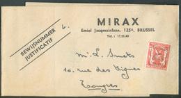 5 Centimes Surch. I-I44 - 31-XII-44 Sur Bande D'imprimée De BRUXELLES (MIRAX) Vers Tongres - 15402 - Typos 1936-51 (Kleines Siegel)