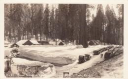 Sequoia National Park California, Snow Scene In Village, C1920s Vintage Real Photo Postcard - Stati Uniti