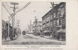 San Francisco California, Fillmore Street, Business District, Street Car, C1900s Vintage Card - Otros