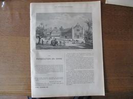 LES MISSIONS CATHOLIQUES DU 29 OCTOBRE 1886 CEYLAN EGLISE DE PANDATERIPPOO,CHINE KIANG-NAN VUE DE TONG-TCHEOU,UN DES ASS - Livres, BD, Revues