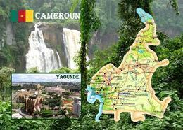 Cameroon Country Map New Postcard Kamerun Landkarte AK - Camerun