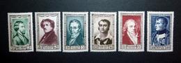 FRANCE 1951 N°891 À 896 ** (PERSONNAGES CÉLÈBRES DU XIXÈME SIÈCLE) - Unused Stamps
