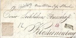 Faltbrief  Mährisch Schönberg - Klosterneuburg            1837 - Autriche