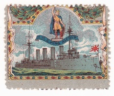 Vignette Militaire Delandre - Angleterre - H.M.S. King Alfred - Erinnofilia